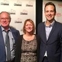 Yvon Desjardins, Lyne L'Italien et Alexandre Cloutier