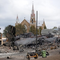 Lac-Mégantic à la suite de l'accident