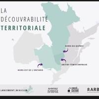 Une infographie montre une carte du Québec et plusieurs informations.