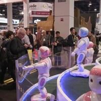 Un kiosque du Consumer electronic show à Las Vegas