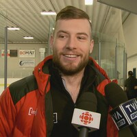 Le patineur de vitesse Laurent Dubreuil.
