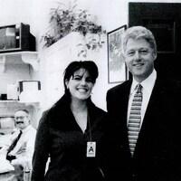 Monica Lewinsky, lors de sa rencontre avec le président Bill Clinton.