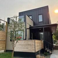 Une maison modulaire.
