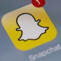 Icône de l'application Snapchat sur l'écran d'un cellulaire