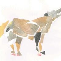 Illustration d'un coup, composée d'un collage.