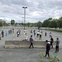 Plusieurs étudiants ont manifesté à Rouyn-Noranda contre la nouvelle réforme du PEQ.