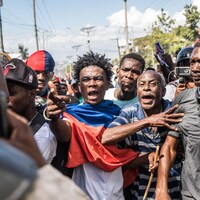 Des manifestants dans les rues.