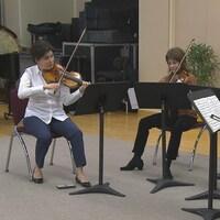 Le Quatuor Saguenay est en répétition.