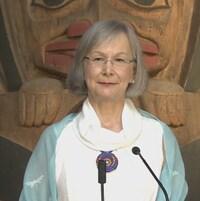 La Commissaire en chef de l'Enquête nationale sur les femmes et les filles autochtones disparues ou assassinées, Marion Buller, à Vancouver le 6 juillet 2017.