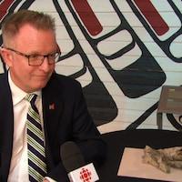 Mark O'Neill en entrevue à Radio-Canada.
