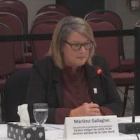 Marlene Gallagher témoigne à la commission Laurent.