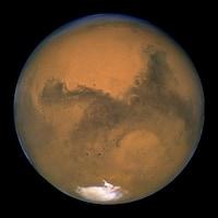 Gros plan de la planète Mars