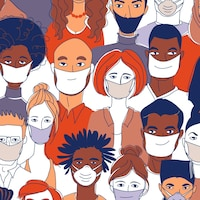 COVID-19 : les masques sont complémentaires aux mesures d'hygiène mises en place dans le cadre de la distanciation sociale.