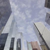 Des tours de bureaux au centre-ville de Toronto.