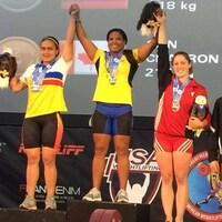 Maude Charron sur la troisième marche du podium des Championnats panaméricains