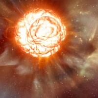 Une image de l'étoile Bételgeuse prise par l'Observatoire de Paris.