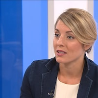 Mélanie Joly en entrevue à l'émission 24/60