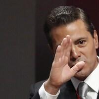 Le président du Mexique Enrique Pena Nieto au palais national à Mexico en septembre dernier.