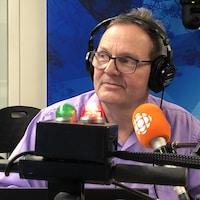 Michel Gaudreau en studio.