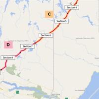 Une carte de la ligne Micoua-Saguenay