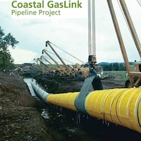 Capture d'écran faite à partir du site web du projet Coastal GasLink (http://www.coastalgaslink.com)