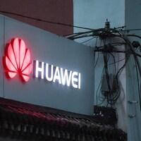 Le logo du fabricant chinois Huawei