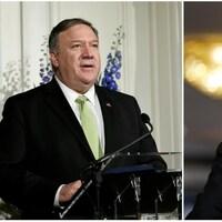 Le secrétaire d'État américain, Mike Pompeo et le ministre iranien des Affaires étrangères, Mohammad Javad Zarif.