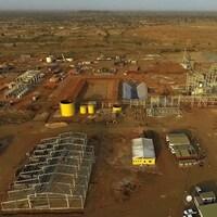 Vue aérienne de la mine Boungou