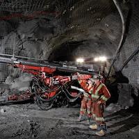 Intérieur de la mine Goldcorp à Red Lake en Ontario.
