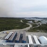 Le site de la mine Renard de Stornoway Diamonds, dans les monts Otish, au Québec.