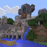 Un monde dans le jeu Minecraft.
