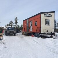 Une mini-maison à Yellowknife, dans les Territoires du Nord-Ouest