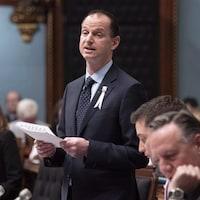Le ministre des Finances Éric Girard à l'Assemblée nationale