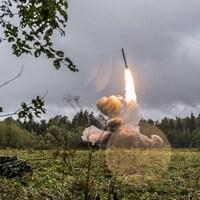 Lancement d'un missile russe Islander-K lors d'un exercice militaire en septembre 2017.