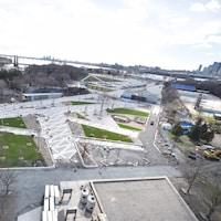 Prise de vue le 29 avril de l'amphithéâtre du parc Jean-Drapeau.