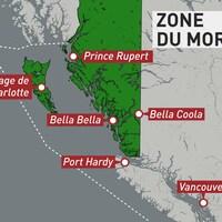 Une carte délimitant la zone moratoire.