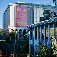 Les murs extérieurs du Musée royal de la Colombie-Britannique, à Victoria.