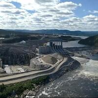 Le barrage hydroélectrique Muskrat Falls, sur le fleuve Churchill, est encore en construction.