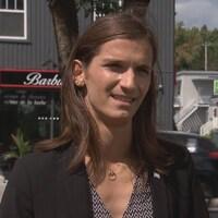La candidate libérale dans Louis-Saint-Laurent Nathanielle Morin