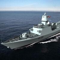 Le navire de combat de type 26.