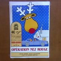 Affiche faisant la promotion d'Opération Nez rouge.