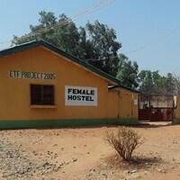 Le bâtiment dédié au logement des étudiantes kidnappées.