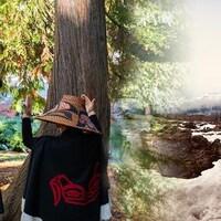 Des femmes utlise la réalité virtuelle pour se transporter dans la vallée Nass, en C.-B.