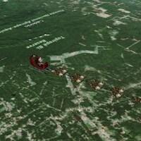 Vers 20 h, le père Noël survolait la Guyane française, selon le NORAD.