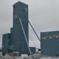 Le puits de mine de la mine North American Palladium à Gull Bay.