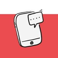 Illustration d'un téléphone cellulaire qui reçoit un message.