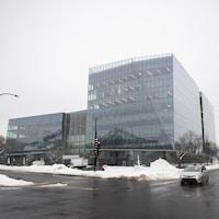 Plan d'ensemble de la nouvelle Maison de Radio-Canada, le 11 février 2020.