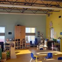 Le local principal de la garderie Les Petits Nanooks d'Iqaluit, qui sera démolie.