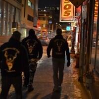Une patrouille des Soldats d'Odin à Québec en 2016