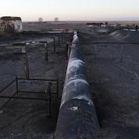 Un oléoduc endommagé à Ras Lanuf en janvier 2017
